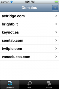 iPhone SEO App - Domain List