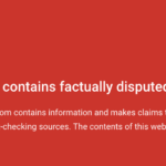 Google Chrome Fact-Check Warning